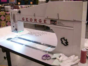 George sit down quilting machine