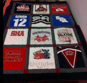 T-shirt Quilt from Cheerleading Uniforms