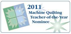 machine quilting teacher of the year