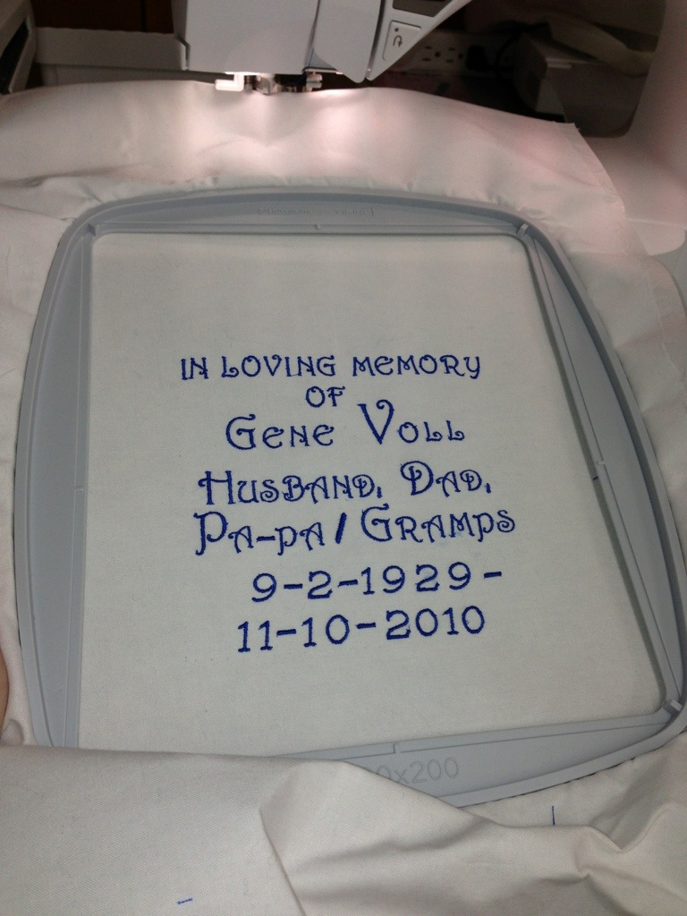 Label For Memory Quilt