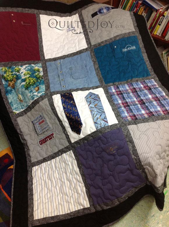 Memorial Quilt Using Ties and Shirts : memorial quilt - Adamdwight.com