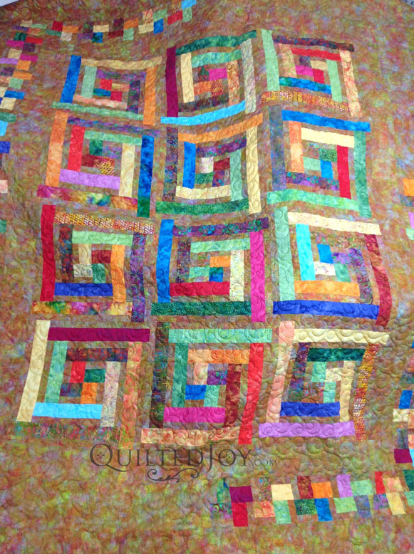 Sandy S Log Cabin Quilt Variation