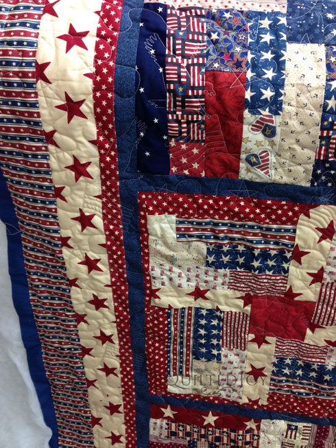 Quilts of Valor Log Cabin Quilt : free patriotic quilt patterns - Adamdwight.com