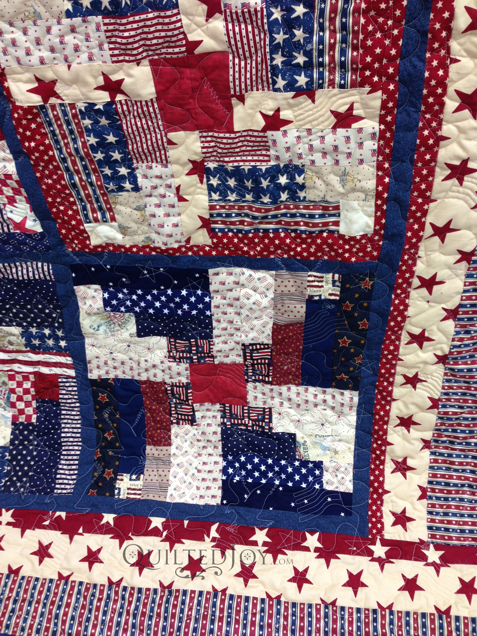 Quilts Of Valor Log Cabin Quilt