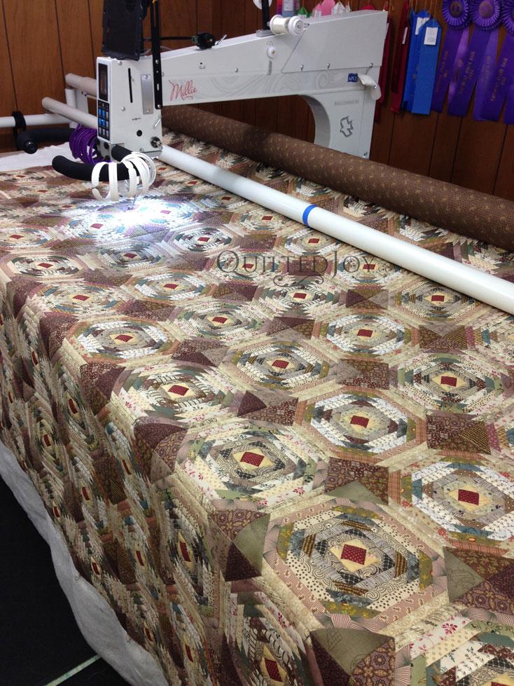 Advanced Beginner Longarm Quilting Class : pineapple quilt - Adamdwight.com