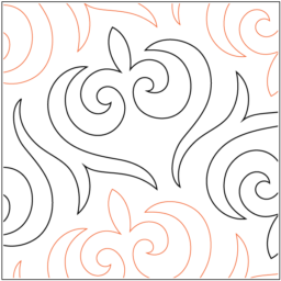 """Cadence paper pantograph, 10"""" tall. Designed by Sarah Ann Myers. Available at QuiltedJoy.com"""