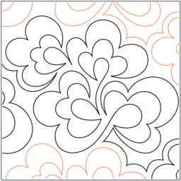 """Chamomile paper pantograph, 11"""" tall. Designed by Patricia Ritter and Valerie Smith. Available at QuiltedJoy.com"""
