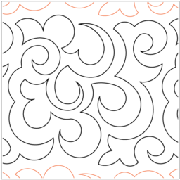 "Mandarin Lace paper pantograph, 10"" tall. Designed by Keryn Emmerson. Available at QuiltedJoy.com"