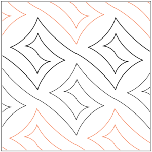 image regarding Free Printable Pantograph Quilting Patterns named Highly recommended Starting off Longarm Pantographs