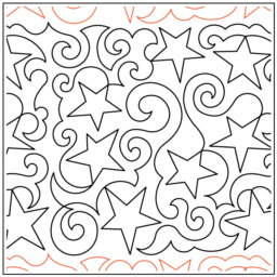 "Swirly Stars paper pantograph, 13.5"" tall. Designed by Deb Geissler. Available at QuiltedJoy.com"