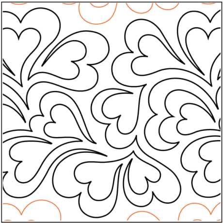 """Whole Lotta Love paper pantograph, 11.75"""" tall. Designed by Patricia E. Ritter. Available at QuiltedJoy.com"""