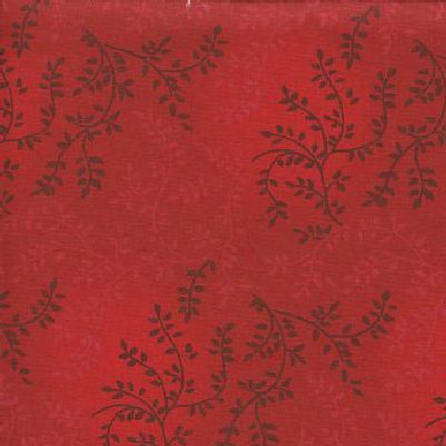 "Tonal Vineyard in Red is a 108"" wide quilt backing fabric featuring an all over leafy vine pattern. Available at QuiltedJoy.com"
