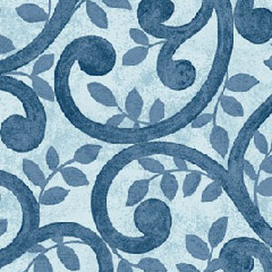 "Benartrex's Normandy Court in Blue. 108"" wide back fabric for quilts. Available at QuiltedJoy.com"