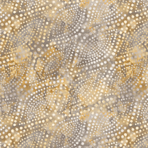 "Diagonal dots in grey/gold. A batik inspired 108"" width fabric from Wilmington Prints Studio. Available at QuiltedJoy.com"