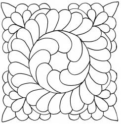 """11"""" Fancy Feather Stencil available at QuiltedJoy.com"""