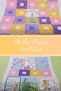 Oh the Places You'll Go, quilted by Angela Huffman - QuiltedJoy.com