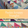 Paula's Scrappy Triangles, quilted by Angela Huffman