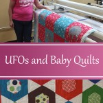 Renters work on UFOs and Baby Quilts at the Quilted Joy showroom