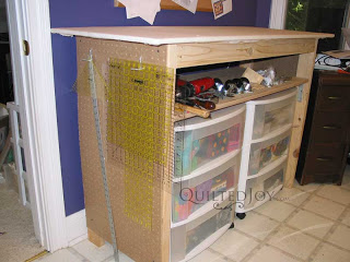 DIY Ironing Table by QuiltedJoy.com