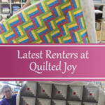 The latest renters at Quilted Joy show off their quilts! - QuiltedJoy.com