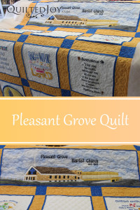 Quilt for Pleasant Grove Church with quilting by Angela Huffman - QuiltedJoy.com