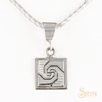 Mini snail's trail sterling silver pendant by Siesta Silver Jewelry. Available at QuiltedJoy.com