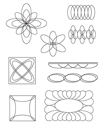 Design ideas for using the HQ Oval C or D Templates
