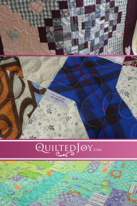 Quilted Joy's renters bring in a variety of quilt tops to work on. In this post we catch up with a few quilters working on memorial quilts and more.
