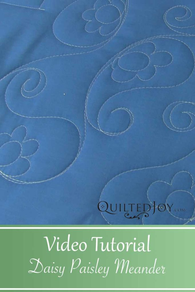 Daisy Paisley Meander Video Tutorial