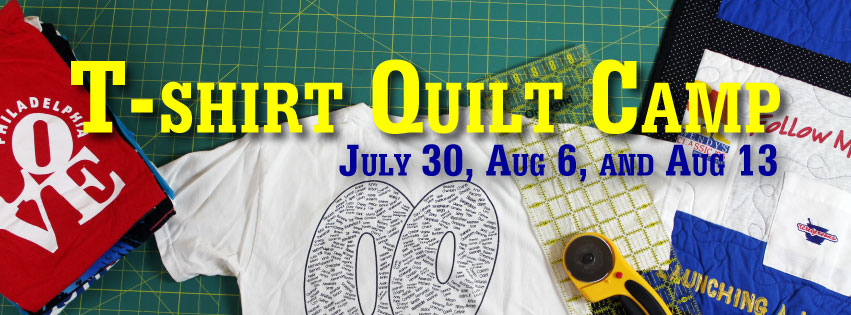 Learn to make a cherished keepsake at the T-shirt Quilt Camp