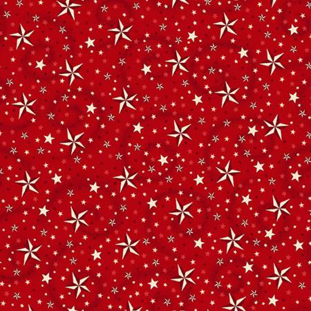 "American Dreams red, 108"" wide backing fabric"