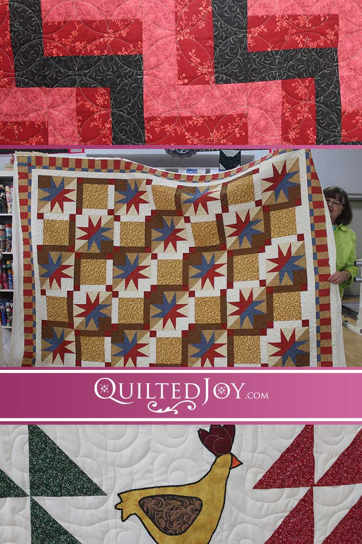 APQS longarm machine renters at Quilted Joy are always working on lovely quilts and go home with beautiful results! Check out the latest from our renters!
