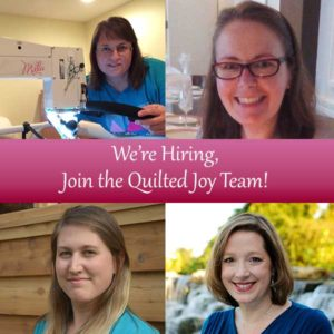 Quilted Joy is Hiring