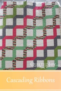 Arlene's Cascading Ribbon quilt, quilted by Angela Huffman