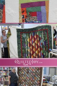 Catch up with Quilted Joy's renters to see the beautiful quilts they're working on at the APQS longarm studio