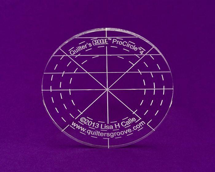 4 inch circle longarm ruler