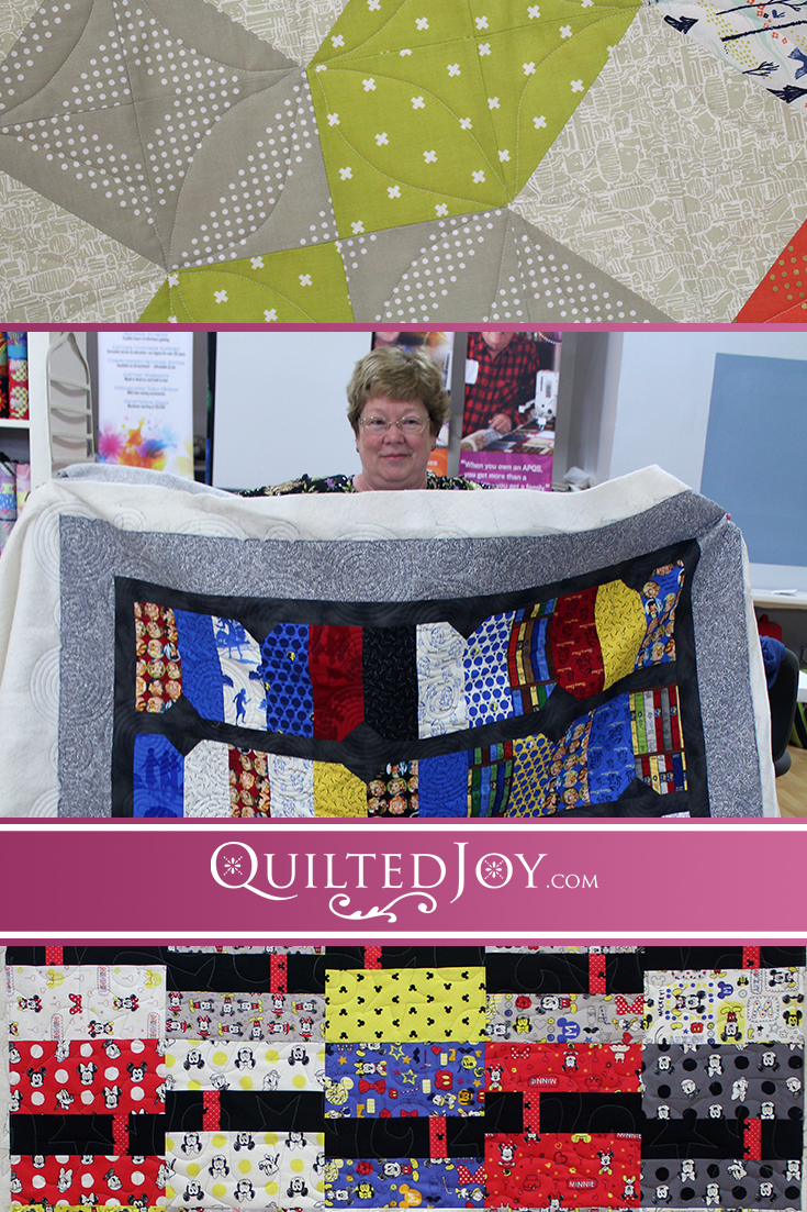 Quilted Joy's renters get into the Spirit of Giving with lovely quilts they'll be giving to others