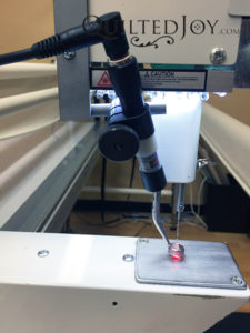 Spot On Laser Bracket for APQS longarm quilting machines with LED light panel for use with computerized systems