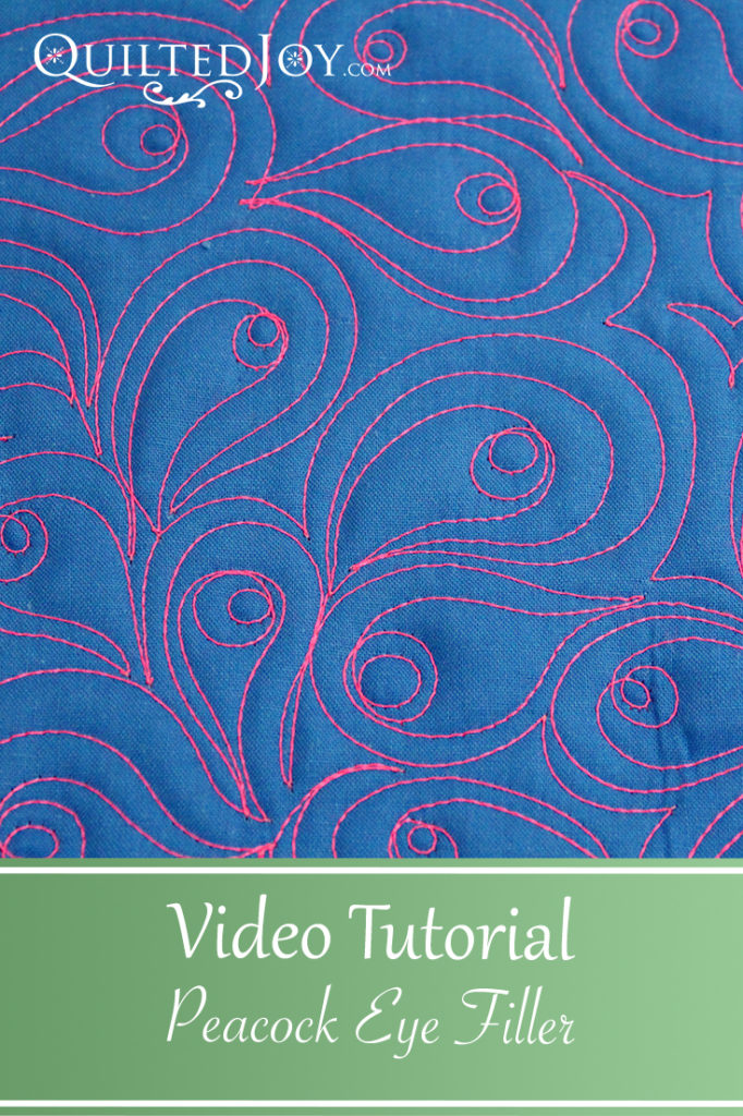 Video Tutorial for the Peacock Eye Filler Quilting design