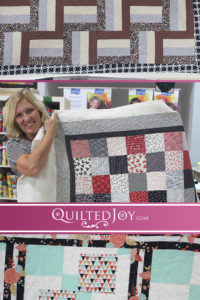 When you rent one of our APQS longarm machines, you also may use our collection of design boards. Here are a few recent examples of design board quilts.