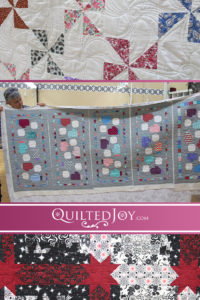 The elves were busy at Quilted Joy during the holiday season. Here are a few of the projects that were quilted here recently!