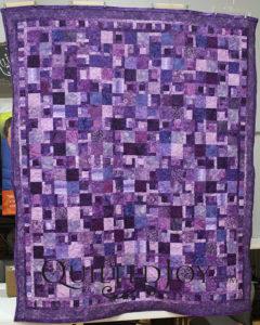 Gorgeous Purple batiks quilt
