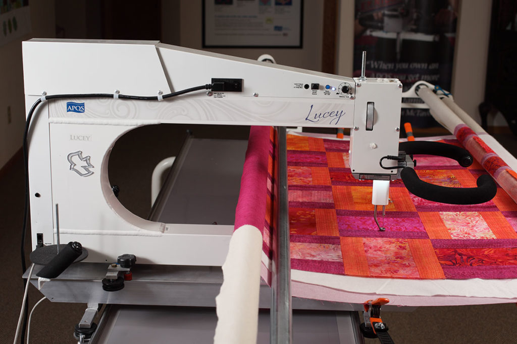 APQS Lucey Longarm Quilting Machine