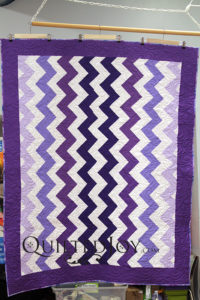 Purple Chevron Quilt