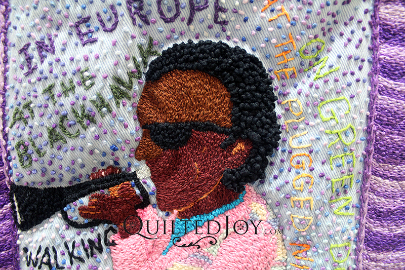 Hand Embroidery Miles Davis Quilt