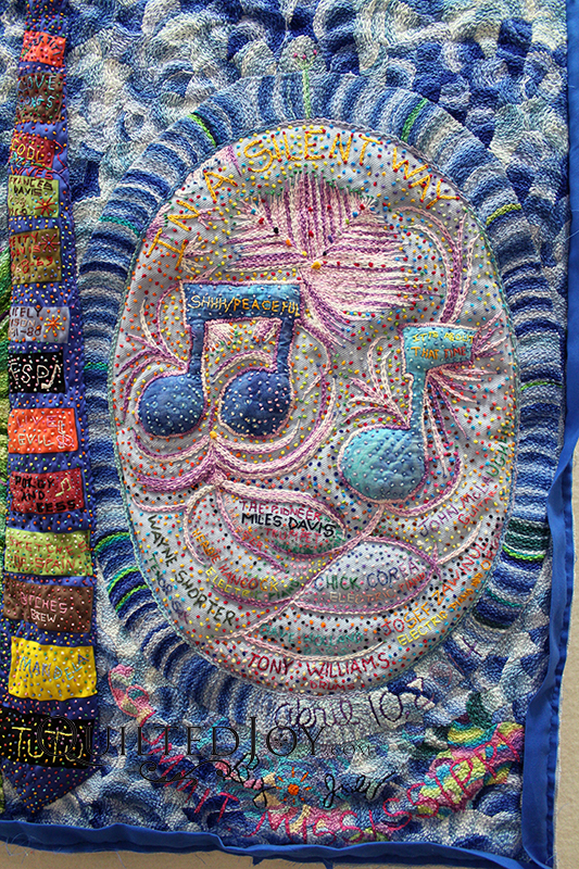 In A Silent Way Hand Embroidery Miles Davis Quilt