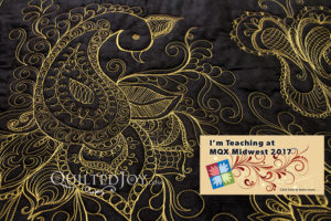 Angela Huffman Peacock Paisley Party Longarm Quilting Class