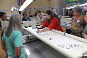 free motion quilting class by Angela Huffman