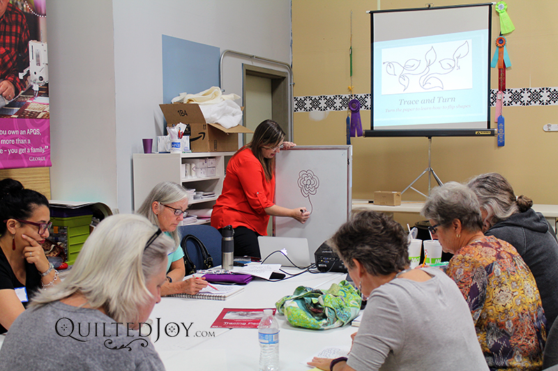 free motion quilting on the longarm class by Angela Huffman
