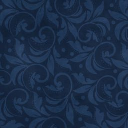 "Vintage Scroll Essential 108"" - Navy Blue"